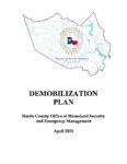 Demobilization Plan (Example)