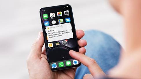 Image of Test Alert message for phones.