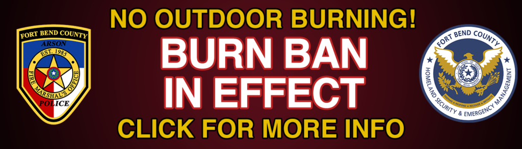 No outdoor burning permitted, burn ban in effect. Click for more information.