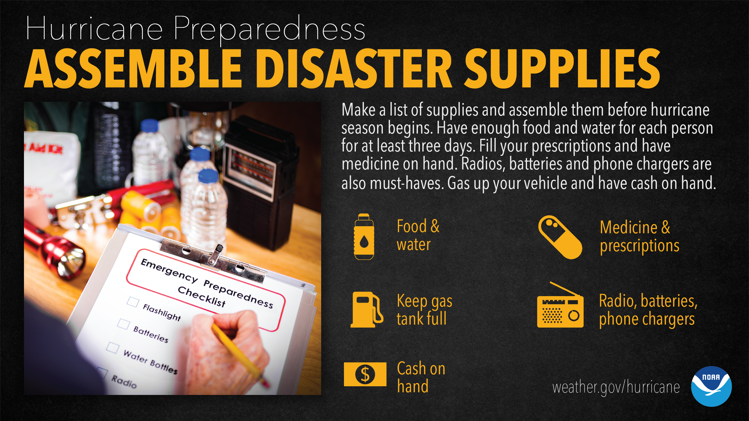 Assemble Disaster Supplies