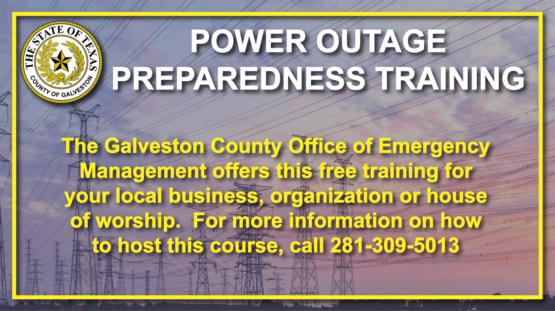 Power Outage Preparedness Training