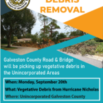 UNINCORPORATED GALVESTON COUNTY – Storm Debris Clean-Up